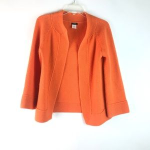 J crew orange sweater cardigan jacket